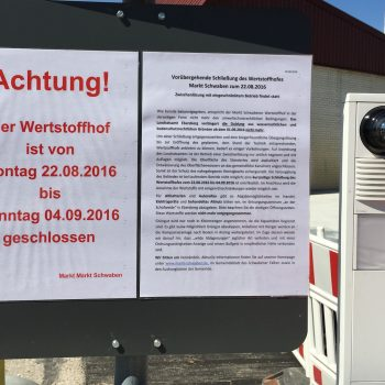 Sanierungsfall Wertstoffhof in Markt Schwaben