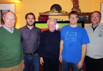 Der neue Vorstand in Ebersberg (von links nach rechts): Gottfried Pasour und Maximilian Missalla (Beisitzer), Dr. Gisbert Wolfram (Schatzmeister), Dr. Volker Wagner-Solbach (1. Vorsitzender), Bernhard Spötzl (Stellvertretender Vorsitzender)