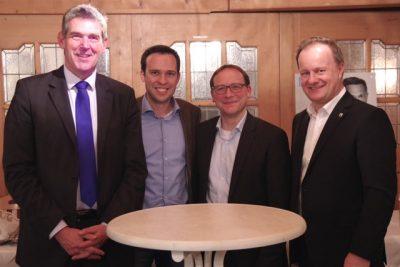 Landrat Robert Niedergesäß, Karsten Klein MdB, Martin Hagen (kandidiert als Spitzenkandidat für die bayerische FDP zur Landtagswahl), Alexander Müller