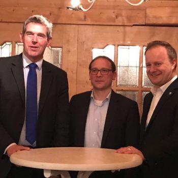 Landrat Robert Niedergesäß, Karsten Klein MdB, Alexander Müller