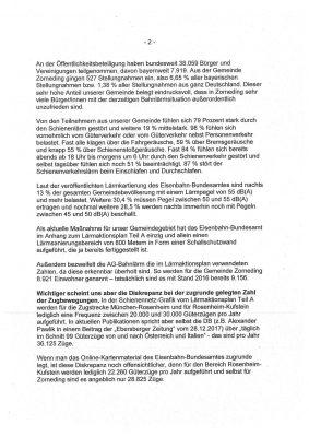 Stellungnahme der Zornedinger Gemeinderäte an das Eisenbahn-Bundesamt - Seite 2