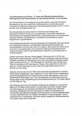 Stellungnahme der Zornedinger Gemeinderäte an das Eisenbahn-Bundesamt - Seite 3