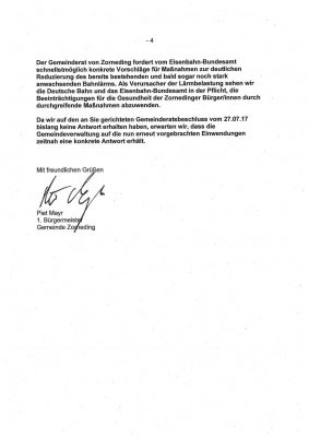 Stellungnahme der Zornedinger Gemeinderäte an das Eisenbahn-Bundesamt - Seite 4