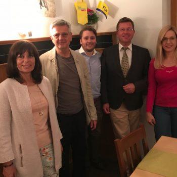 ( V.l.n.r. Brigitte Bencker, Klaus Willenberg, André Schreiber, Thomas Miller, Petra Rawe,