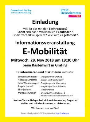 FDP Grafing 20181128 E-Mob Handzettel